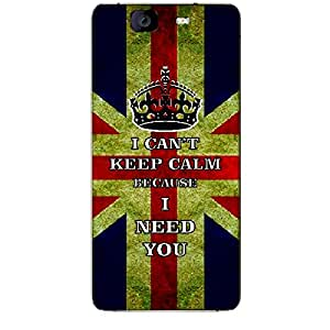 Skin4gadgets I CAN'T KEEP CALM BECAUSE I NEED YOU - Colour - UK Flag Phone Skin for MICROMAX CANVAS KNIGHT (A350)