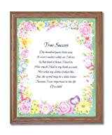 Motivational Poem True Success Home Decor Wall Picture Oak Framed Art Print