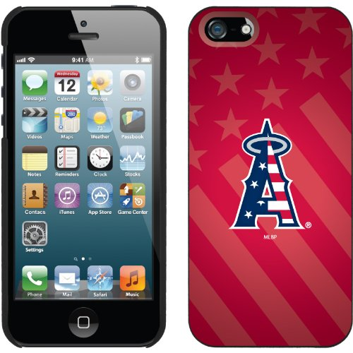 Special Sale LA Angels of Anaheim - USA Red design on a Black iPhone 5 Thinshield Snap-On Case by Coveroo