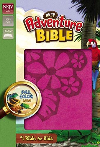 Adventure Bible: NKJV Raspberry Italian Duo-Tone