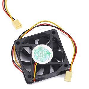HDE® 60mm Quiet Desktop PC Rear Cooling Fan