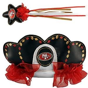 NFL San Francisco 49ers Princess Tiara and Wand Set