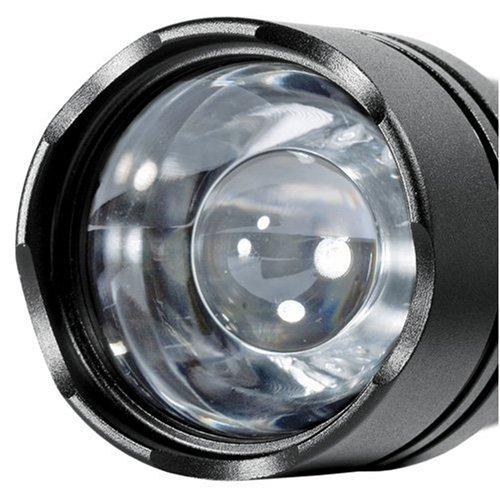 LiteXpress Illumate 200 schwarz, Aluminium-Taschenlampe, Hochleistungs-LED bis zu 100 Lumen