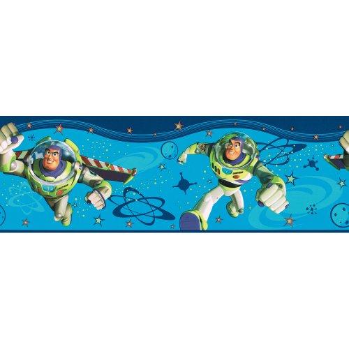 Imperial Disney Home DF059342B Buzz Lightyear Border, Blue, 6.83-Inch Wide - 1