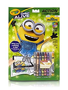 crayola color alive animated minions pages toys games