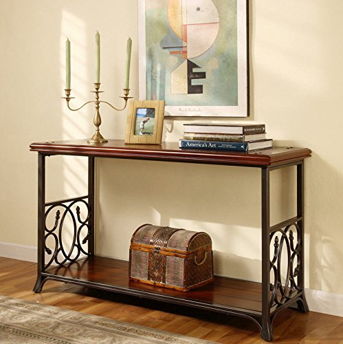 Best buy traditional sofa table exclusive elegant scrolled