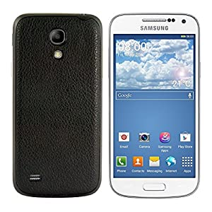 kwmobile® Akku-Deckel mit Kunstlederbezug für das Samsung Galaxy S4 Mini i9190 / i9195 in der Farbe Schwarz - Ergänzt das Design Ihres Samsung Galaxy S4 Mini i9190 / i9195