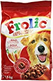 Frolic Complete, made with fresh meat, moist meal, with beef, carrots and cereals 1.5kg (Pack of 5)