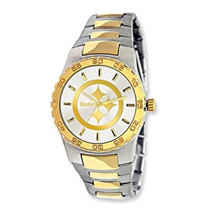 Mens NFL Pittsburgh Steelers Executive Watch by Jewelry Adviser Nfl Watches