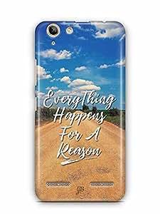 YuBingo Everything Happens For A Reason Designer Mobile Case Back Cover for Lenovo Vibe K5 Plus