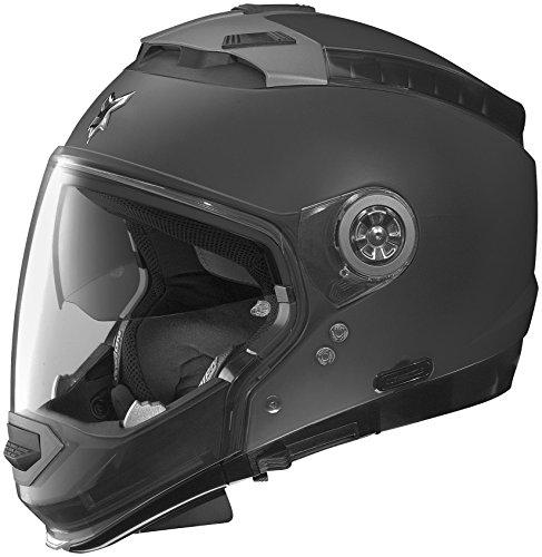 Nolan N44 N-Com Outlaw Helmet, Distinct Name: Flat Black, Gender: Mens/Unisex, Helmet Category: Street, Helmet Type: Modular Helmets, Primary Color: Black, Size: 2XS N445270470179