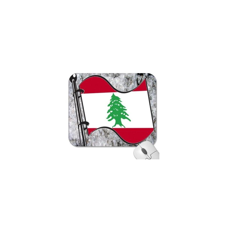 Mousepad   9.25 x 7.75 Designer Mouse Pads   Design Flag   Lebanon (MPFG 110)