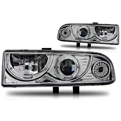 Starr Lite 98-04 Chevy S10 / 98-05 Chevy Blazer Halo Projector Head Lights - (Chrome / Clear)