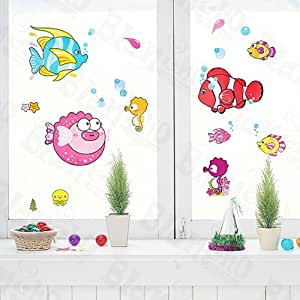 Tropical fish wall decals stickers appliques for Amazon wall mural
