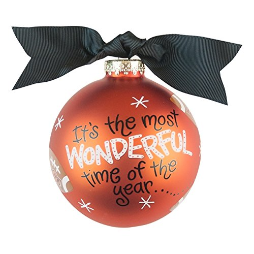 OSU Most Wonderful Time Ornament Football