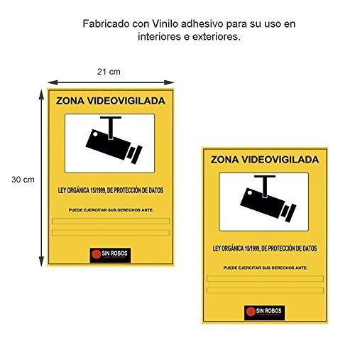 docliickr-juego-de-2-vinilo-amarillo-de-camara-seguridad-exterior-interior-tamano-a6-que-simboliza-l