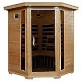Radiant Saunas BSA2412 3-Person Hemlock Infrared Sauna with 7 Carbon Corner Heaters