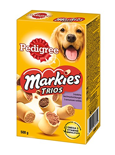 Artikelbild: Pedigree Markies Trio's Hundesnacks, 12 Packungen (12 x 500 g)