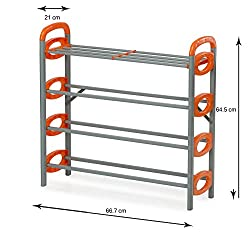 Lowprice Online TM Nilkamal 12 Pair Stackable Shoe Rack Storage 4 Layer