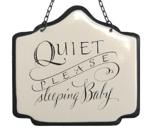 america-retold-white-enamel-sign-sleeping-baby-6-by-america-retold
