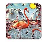 Klang und Kleid Untersetzer Retro Flamingo
