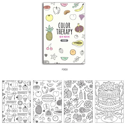 Set Of 4 Mini Coloring Books For Adult Relaxation Color
