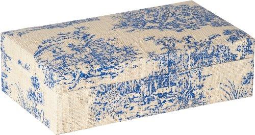 Terragrafics Chateau Toile Jewelry Keepsake Box in Blue