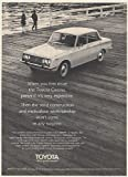 1970 Toyota Corona 4-Door Sedan Solid Construction and Meticulous Workmanship Print Ad (Memorabilia) (57153)