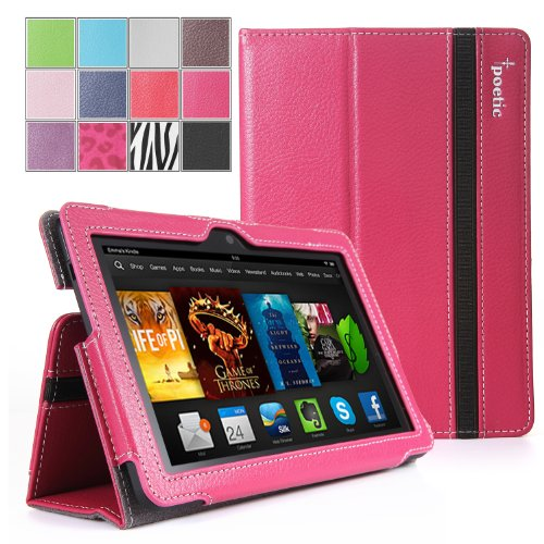 $$  Poetic SlimBook Case for New Kindle Fire HDX 7 inch (2013) Tablet Hot Pink (3 Year Manufacturer Warranty From Poetic)