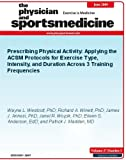 Prescribing Physical Activity: Applying the ACSM Protocols for Exercise Type, Intensity, and Duration Across 3 Training Frequencies (The Physician and Sportsmedicine)