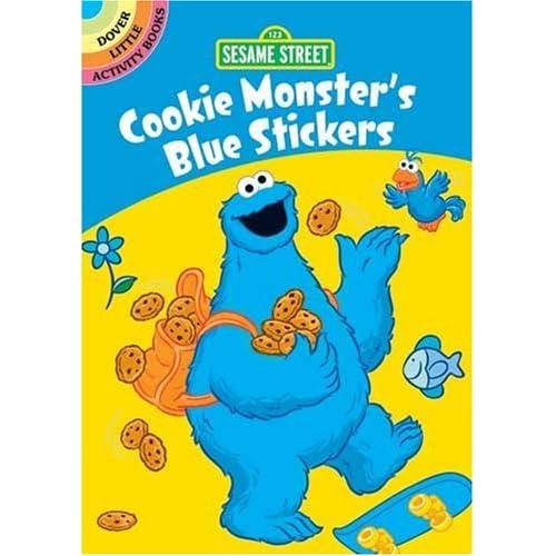 Sesame Street Cookie Monster's Blue Stickers (Sesame Street Stickers)