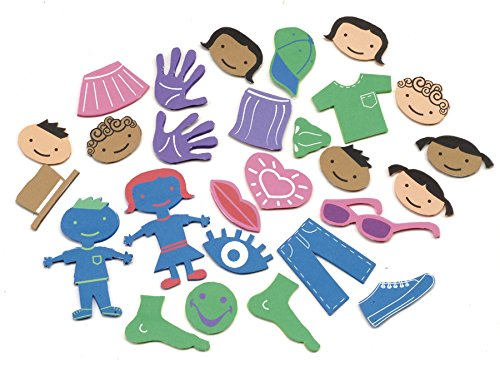 Self-Adhesive Foam People Stickers (Pack of 54) - 1
