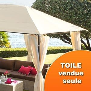 Toile de tonnelle Santorini - Ecru: Amazon.fr: Jardin