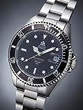 【エルジン ELGIN 】紳士用腕時計 自動巻き機械式(日本製ムーブメント) 20気圧ダイバーズ シルバー x ブラック FK1405S-B 【正規品】