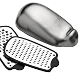 Mouse Cheese Grater - Stainless Steel - 2 discs for Parmesan, Cheddar etc -by Grunwerg of Sheffieldby WOWOOO