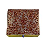 Avinash Handicrafts Jewellery Box Inch In Zari Work (15cm X12.5cm X6.5cm)