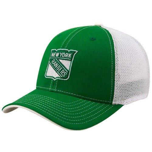 c915900c6d6 Reebok New York Rangers Kelly Green St. Patrick s Day Structured Mesh Back Flex  Fit Hat