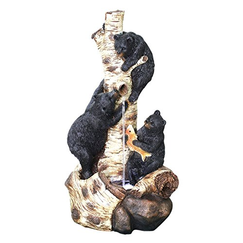 Beckett Corporation Bears Around the Birch Tree Fountain with Pump, Multicolor (Bear Fountain compare prices)