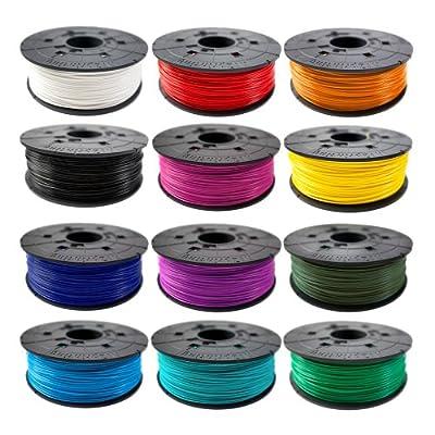 XYZprinting ABS Plastic Filament Cartridge, For 3d Printer, 1.75mm Diameter, 600g
