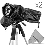 (2 PACK) Altura Photo Professional Rain Cover for Large DSLR Cameras