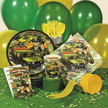 Camouflage army party supplies decoration ideas for Army party decoration