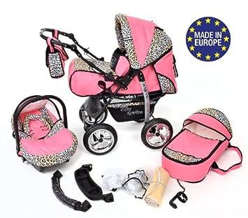 Baby Sportive - Landau pour bébé + Siège Auto - Poussette - Système  3en1, incluant sac à langer et protection pluie et moustique - ROUES NON  PIVOTABLES  ... b180f0fdb9a