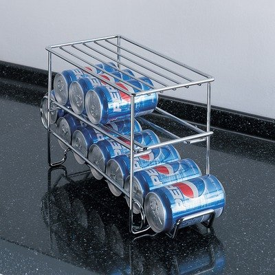 Organize It All Chrome 12 Can Holder