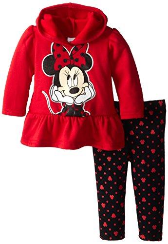 Disney Baby Baby-Girls Infant Disney'S Minnie Infant Fleece Legging Set, Red, 24 Months front-47844