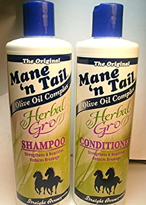 Mane 'n Tail Herbal Gro Shampoo Conditioner Olive Oil Complex 12 oz New