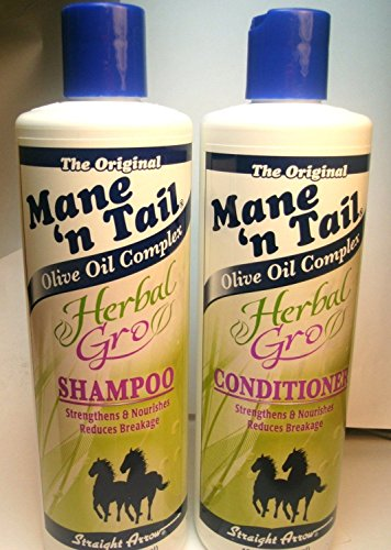 Mane 'n Tail Herbal Gro Shampoo & Conditioner Olive Oil Complex 12 oz (Mane N Tail Shampoo Conditioner compare prices)