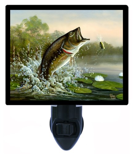 Fishing Night Light - Summertime Largemouth Bass Led Night Light front-1006284