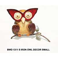 D-ART Iron OWL Small WALL Garden Decor
