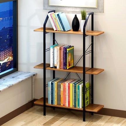 Bookshelf Simple Shelves Environmental Desk Flower Shelf A Small Color Yellow Wood