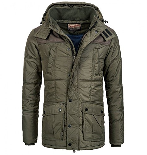 Petrol Industries Jacket Padded Parka Long-Giubbotto Uomo    Beluga Medium